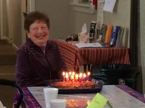 Thelma celebrating 90 years.