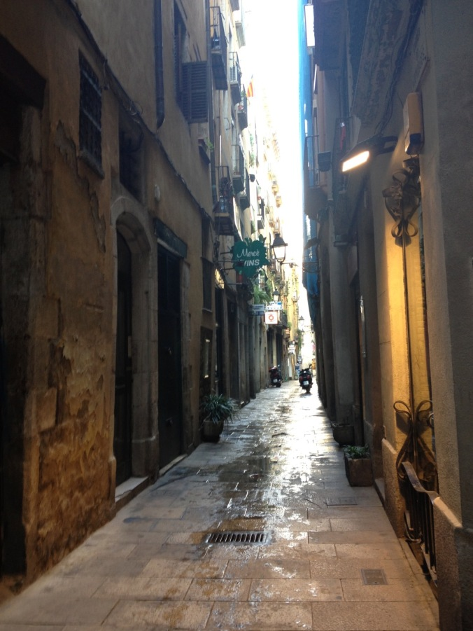 Narrow Street of Barri Gotic